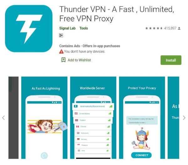 thunder vpn for pc online